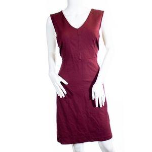 Loft Red V-cut Sleeveless Sheath Dress Size 12